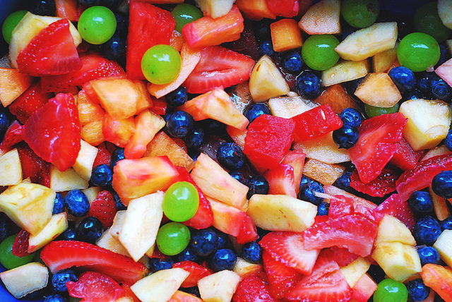 Berries in Fruit Salad for Healthy Eyes