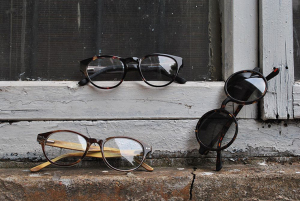 wooden frames, wood glasses, glasses