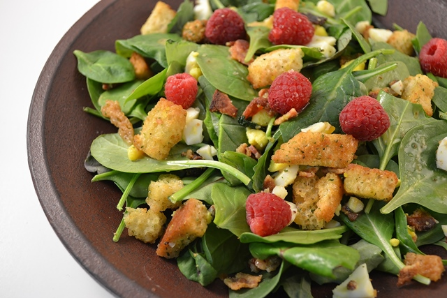 Spinach Salad with Raspberries 5 Ways to Add Healthy Eye Foods to Thanksgiving