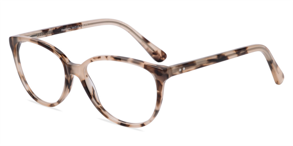 Clear brown tortoise Hepburn frame