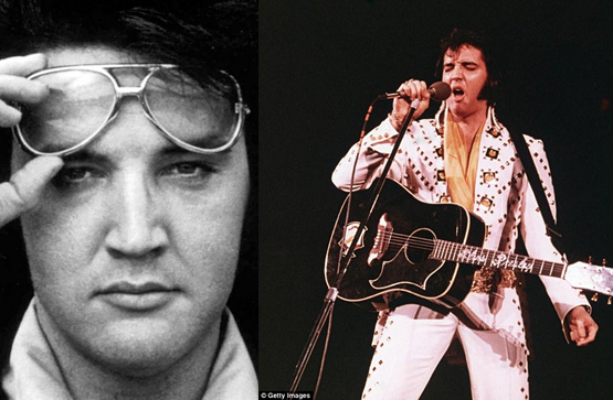 Elvis, the King, with aviators