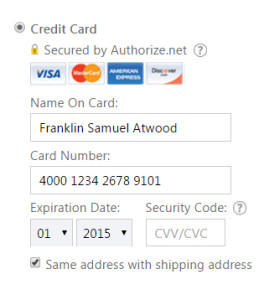 Example DEbit CArd