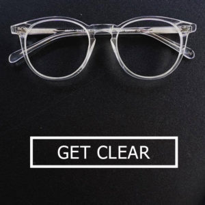 Clear glasses banner