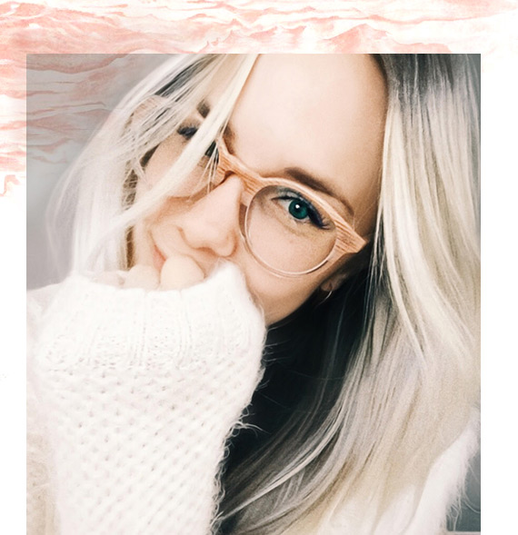 Celeste Clark wearing Fade eyeglasses from EyeBuydirect