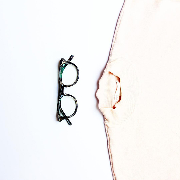 Aurora eyeglasses from RFLKT in flecked ivory.