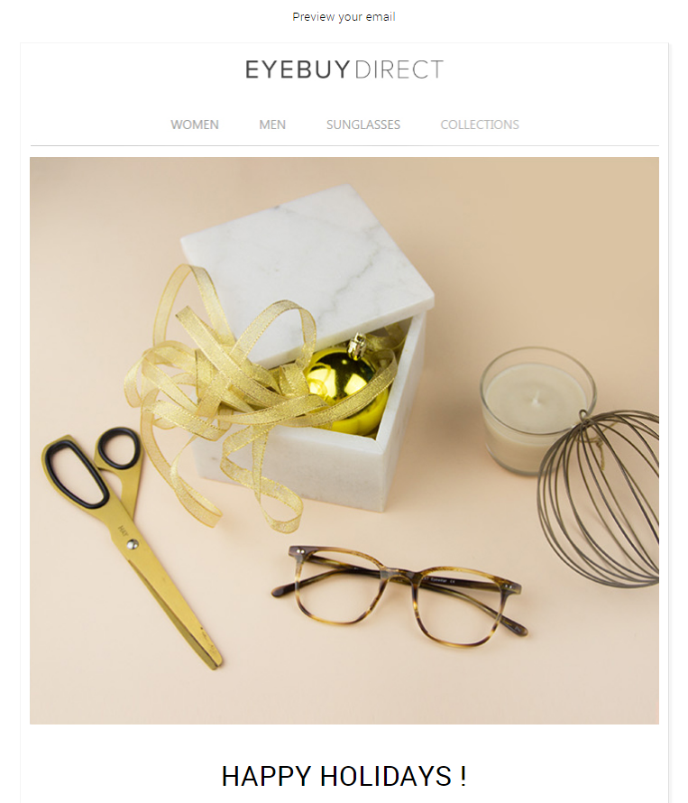 EyeBuyDirect Holiday Gift Card