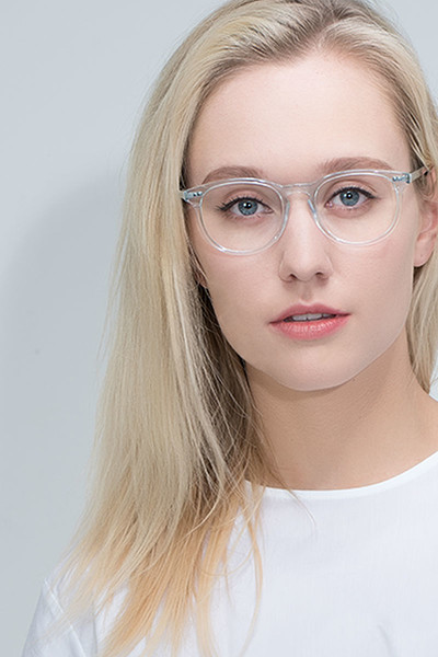 EyeBuyDirect Aura Clear Eyeglasses Blue