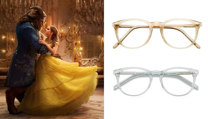 EyeBuyDirect Beauty and the Beast Aura Matte Champagne Celeste