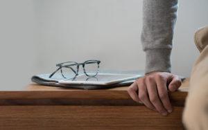 EyeBuyDirect Eyezen Glasses on tablet
