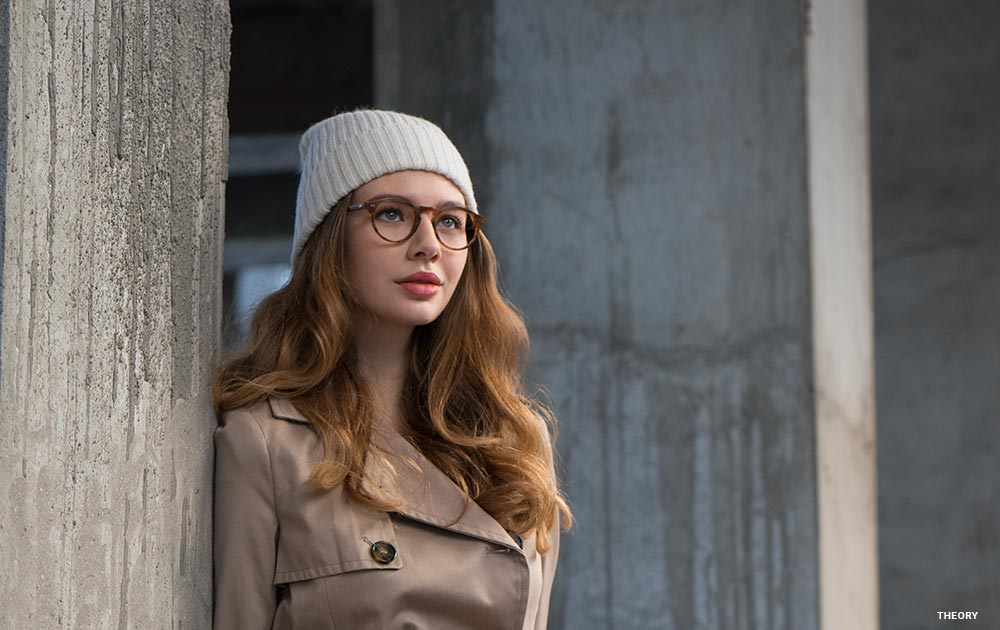 black friday girl beanie glasses city