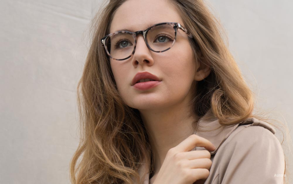 Ladies Eyeglasses Aurora Flecked Ivory