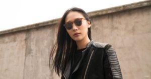Woman wearing polarized sunglasses
