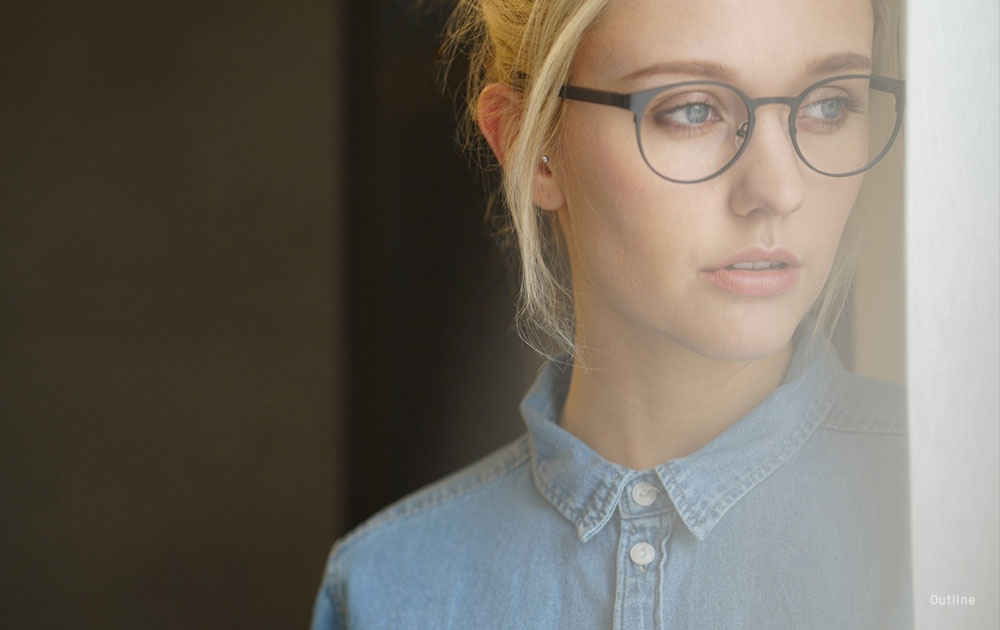 modern eyewear- glasses- girl -blueshirt