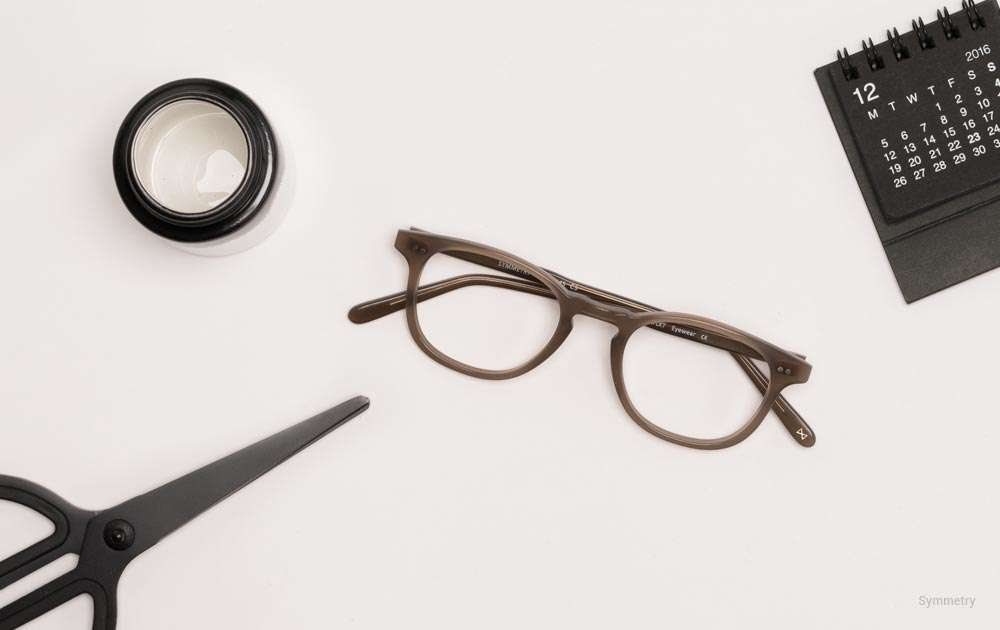 what are glasses lenses made of - brown - scissors