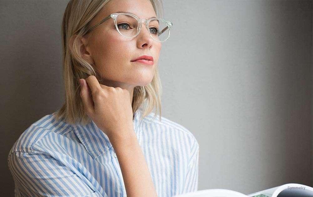855d4aaada astigmatism correction prescription glasses - girl - blonde · Symmetry ...