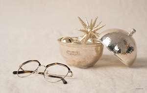 vintage round glasses - browline - flatlay
