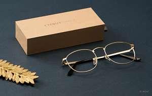 men's oversized glasses - metal