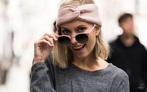 gradient polarized sunglasses - girl - blonde - sunglasses - pink