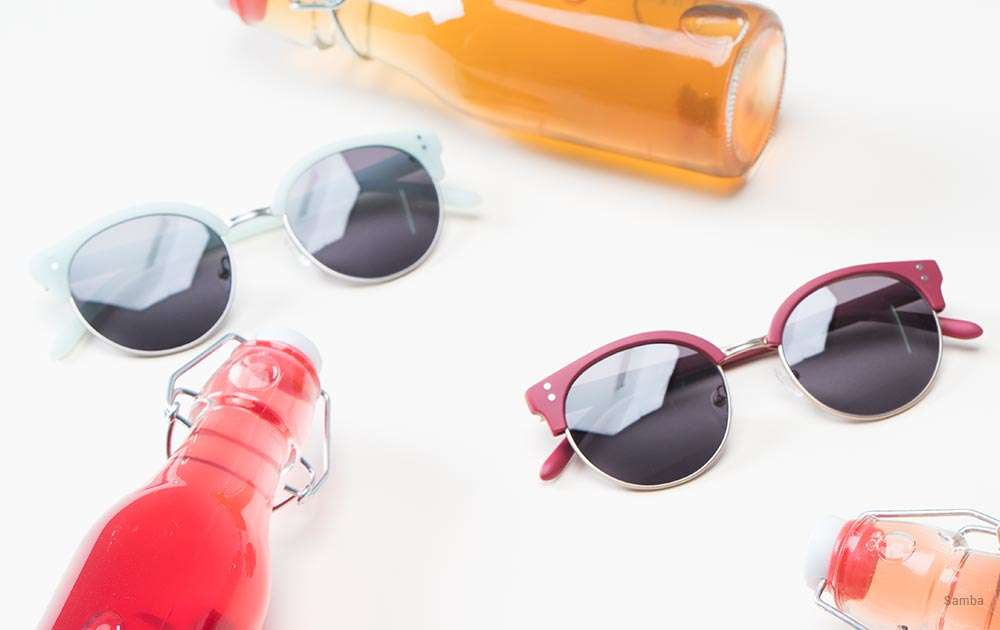 women's running sunglasses - bottles - red