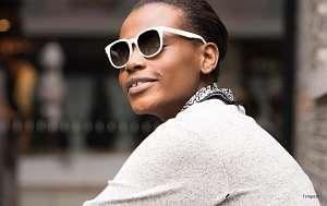 gradient sunglasses for women - white sunglasses