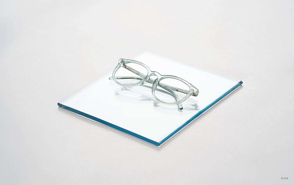 clear cat eye glasses - single