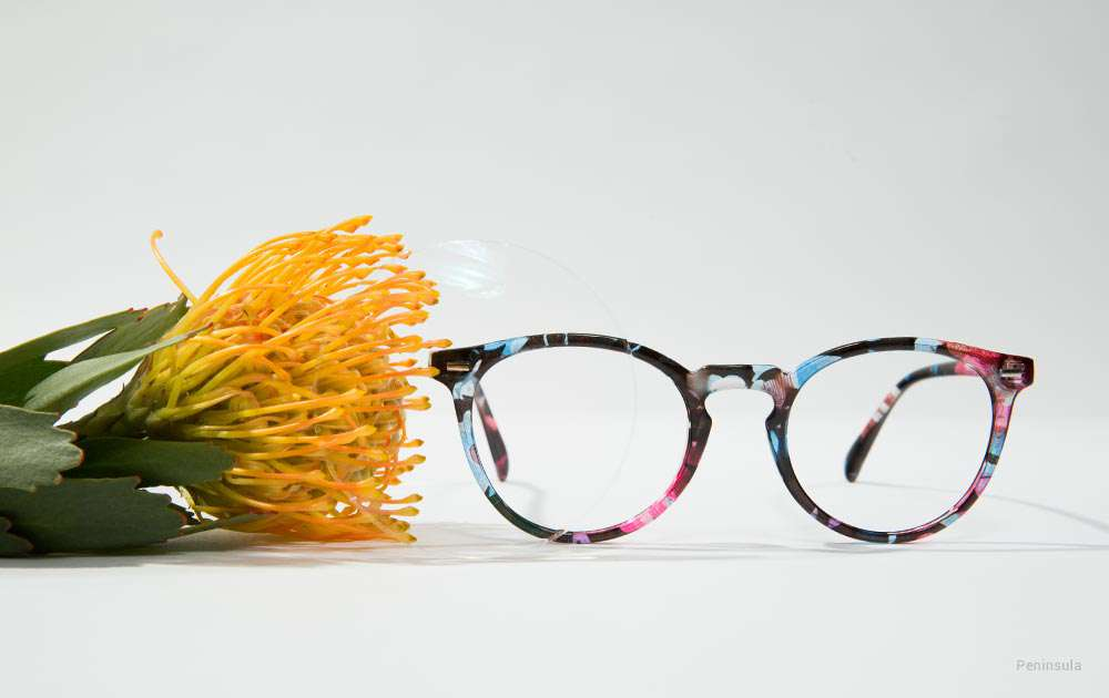 funky eyeglasses - blue glasses