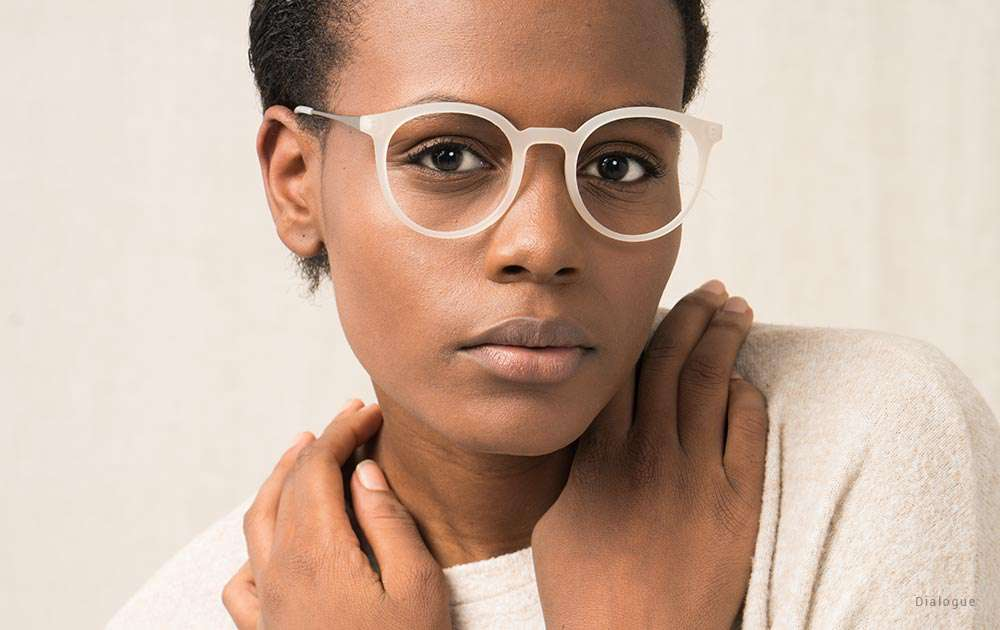 unusual glasses frames - girl - clear glasses