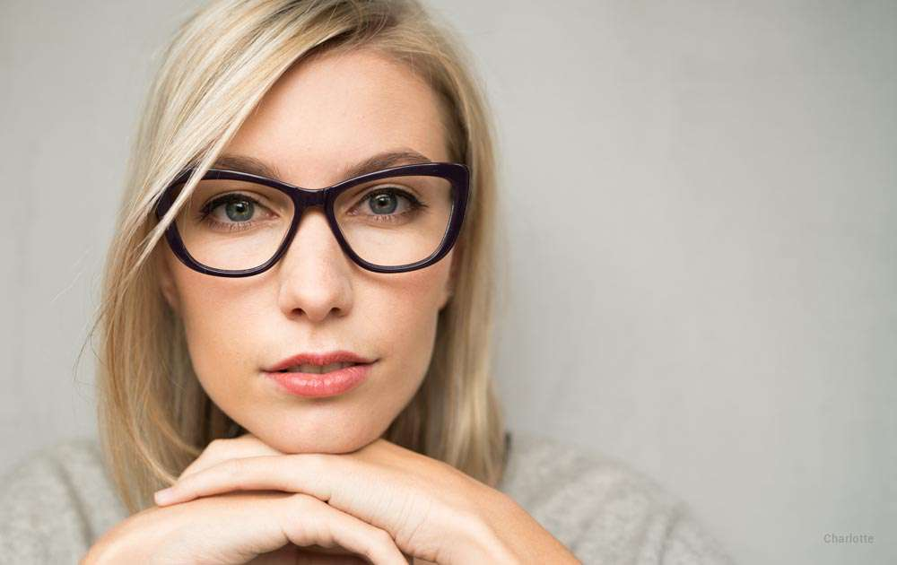 funky eyeglasses - blonde girl