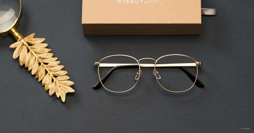 men's gold frame sunglasses and eyeglasses
