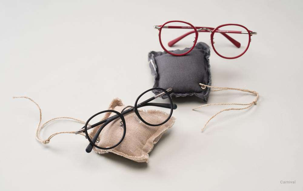 sturdy eyeglasses - black - red - glasses