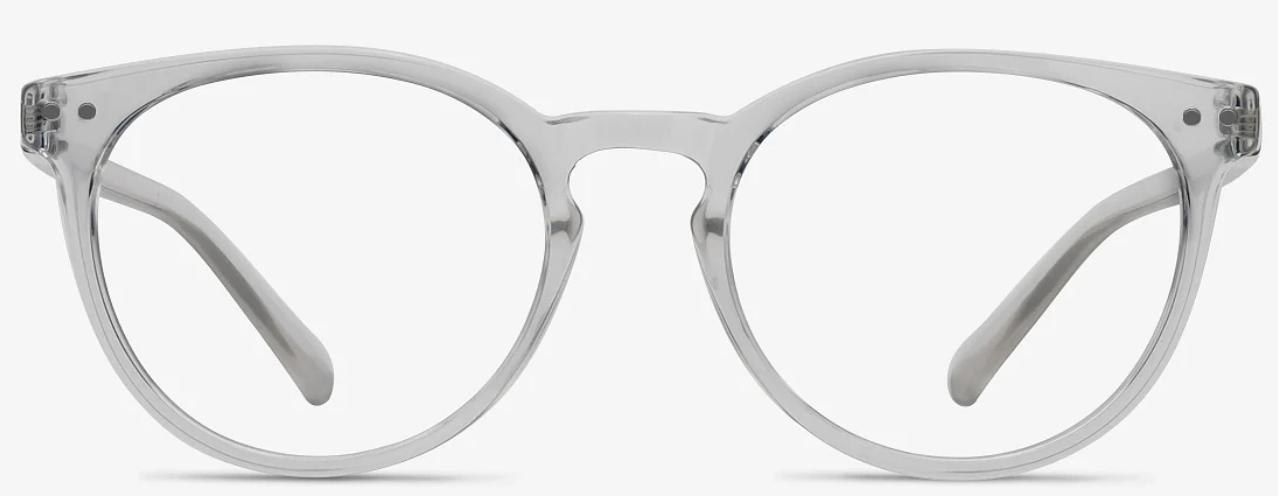 Clear round eyeglass frames