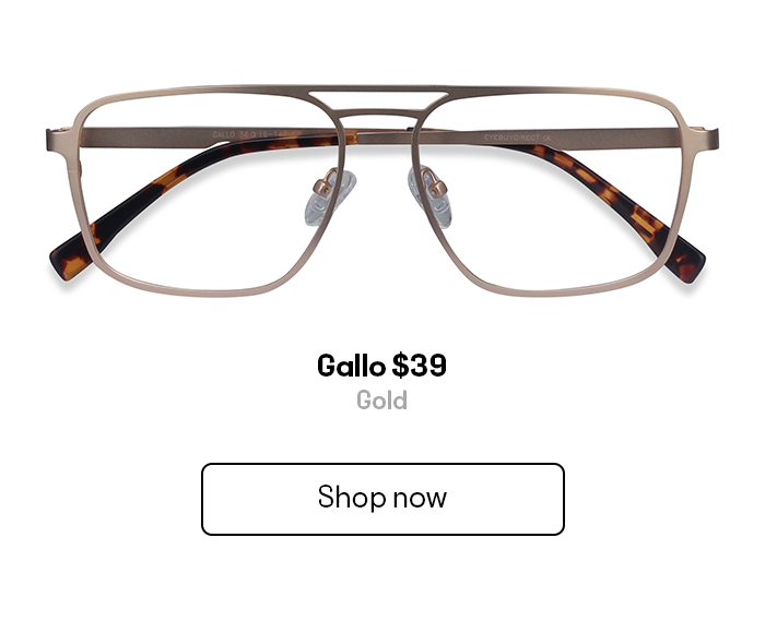 A pair of square shaped metallic aviator frames
