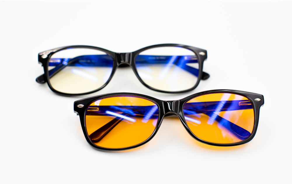 Two different types of blue light blocking glasses